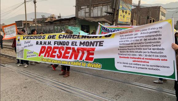 Alcalde Manuel Campos señala que construcción afectaría a más de 2 mil familias. (Foto: @ChaclacayoMuni)