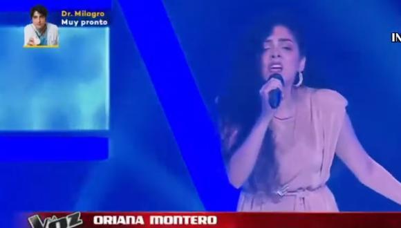 """Oriana Montero sorprendió a los entrenadores de """"La Voz Perú"""". (Foto: Captura Latina)."""