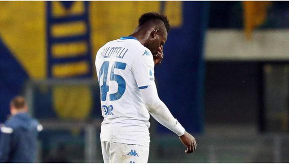 Balotelli, mortificado por el racismo que vivió en la última fecha de la Serie A. (Foto: AP)