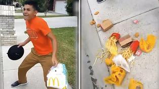 Video viral: Comida termina en el piso por culpa de niño bailarín