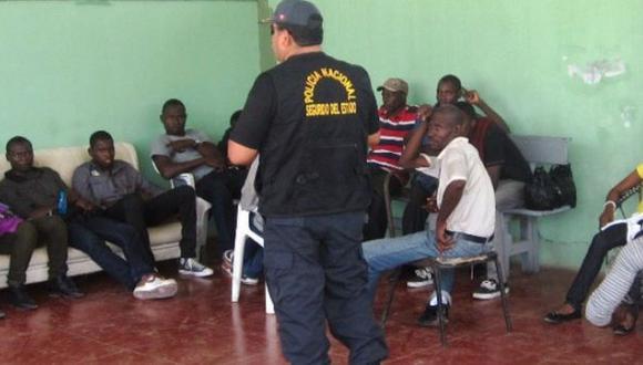 Tumbes: ocho haitianos ilegales fueron detenidos en Punta Sal