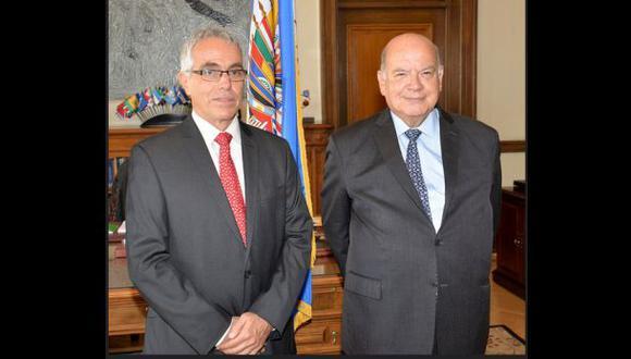 Insulza recibe a García Sayán, candidato a sucederlo en la OEA