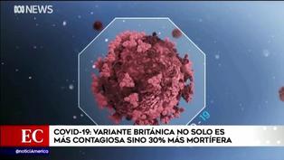 Estudio preliminar informó que variante británica del coronavirus podría ser más mortífera