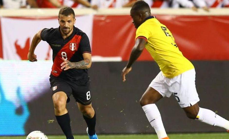 Gabriel Costa se estrenó en la Bicolor el último jueves en el duelo ante Ecuador en Nueva Yersey, Estados Unidos. El uruguayo-peruano fue convocado recientemente por Gareca. (Foto: GEC)