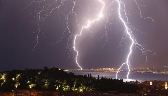Tormenta eléctrica registrada en Niza, Francia. (Foto referencial: AFP)