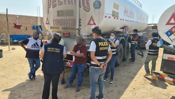 Intervención se dio con el fin de prevenir la venta de combustible de procedencia ilegal (Foto: MP Lambayeque)