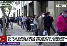 Perú es el país con el mayor número de desempleo en Latinoamérica según la OIT
