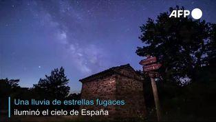 Lluvia de estrellas ilumino el cielo de España