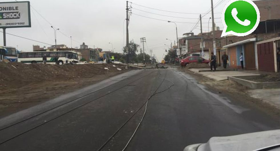 WhatsApp: poste se desploma en pista de San Juan de Miraflores