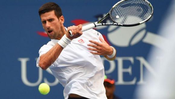 Novak Djokovic se metió a la final del US Open tras eliminar al francés Gael Monfils. (Foto: AFP)
