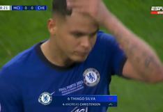 Manchester City vs. Chelsea: Thiago Silva salió lesionado de la final de Champions League | VIDEO