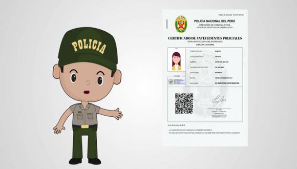 La PNP expide este certificado de manera virtual para uso exclusivo en el Perú, mediante su página web institucional.