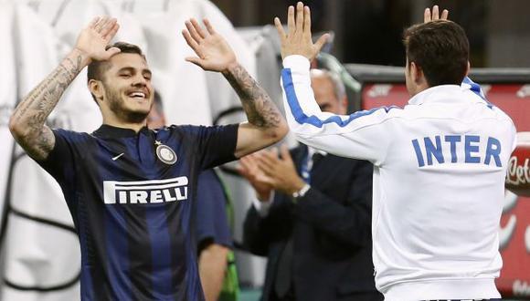 Icardi y Zanetti en el Inter de Milán. (Foto: Reuters)