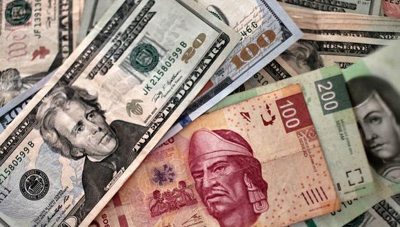 El tipo de cambio en México abría al alza este miércoles y cotizaba a 20.1720 pesos mexicanos. (Foto: AFP)