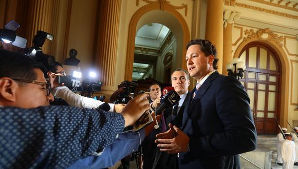 """Daniel Salaverry indicó que el gobierno no solo debe tener """"mano firme"""" para """"pecha al Congreso"""". (Foto: Congreso)"""