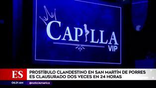 SMP: prostíbulo clandestino fue clausurado dos veces en 24 horas