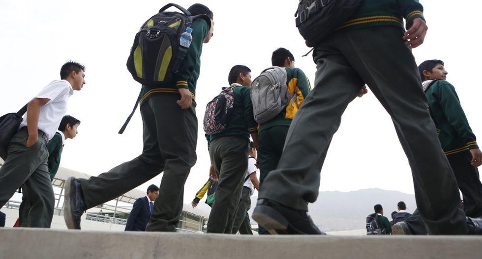 El año escolar en los colegios públicos inicia este 16 de marzo. (Foto: El Comercio)