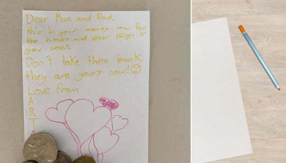 Niña escribió una carta y dio el poco dinero que tenía a sus padres para que su familia pueda tener una casa. (Foto: Bec Touzel en Facebook / Robert Armstrong en Pixabay)