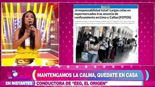 Tula Rodríguez pide calma a la población tras largas colas en supermercados