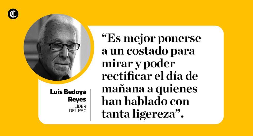 Luis Bedoya Reyes, líder histórico del PPC, cumplió 100 años este 20 de febrero. (Composición: El Comercio)