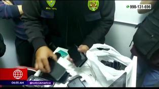 Cercado de Lima: PNP recupera cerca de 60 celulares robados