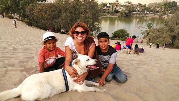 Blanca realmente consiguió la familia soñada. Ella vive con Sheila Blanco, sus hijos Gonzalo y Lucas Carrillo, la abuela y el tío. A apenas 5 minutos de la legendaria Huacachina. (Cortesía)