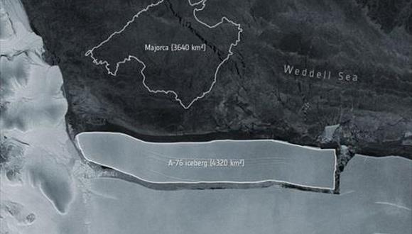 Iceberg A76. (ESA)