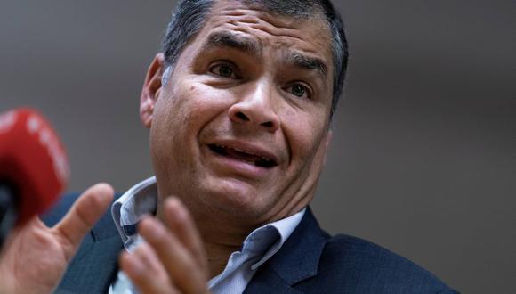 El ex presidente de Ecuador, Rafael Correa, en una imagen del 9 de octubre del 2019. (Foto: Kenzo TRIBOUILLARD / AFP).