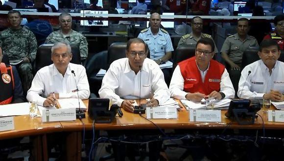 Huaicos en el sur dejan al menos 10 muertos y más de mil damnificados, informó presidente Martín Vizcarra. (Captura: COEN)