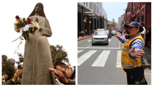 Desvíos en algunas calles del Centro Histórico se debe a la procesión de Santa Rosa de Lima. (GEC/Difusión)