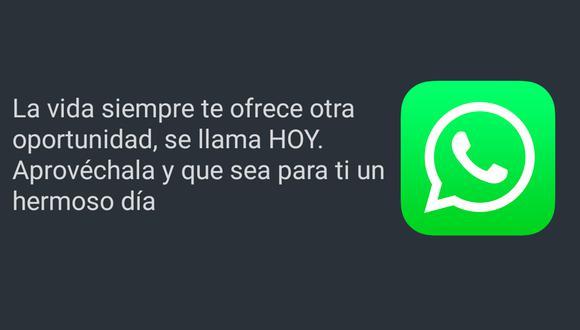 ¿Quieres desearle los buenos días a una persona especial? Mira estas frases de WhatsApp. (Foto: MAG)