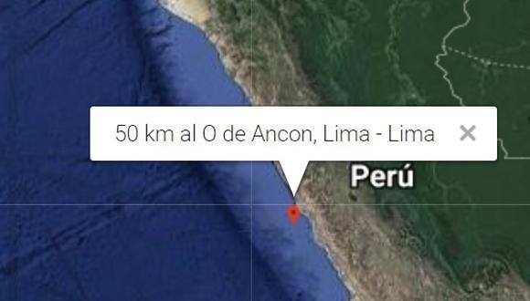 Esta tarde se registró un sismo en el litoral de Ancón de 3.8 en la escala de Richter.