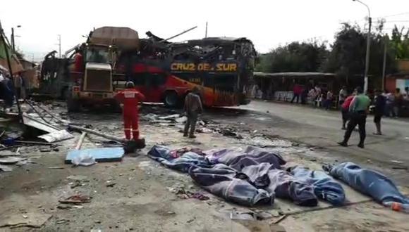 Accidente en Arequipa dejó al menos 16 fallecidos. Doce personas murieron en el lugar del choque. La Policía Nacional del Perú aún investiga las causas del accidente. (Foto: Difusión)