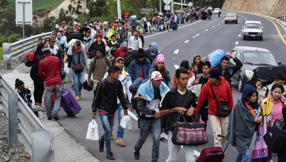 Migrantes y refugiados venezolanos. Foto: AFP, vía El Nacional