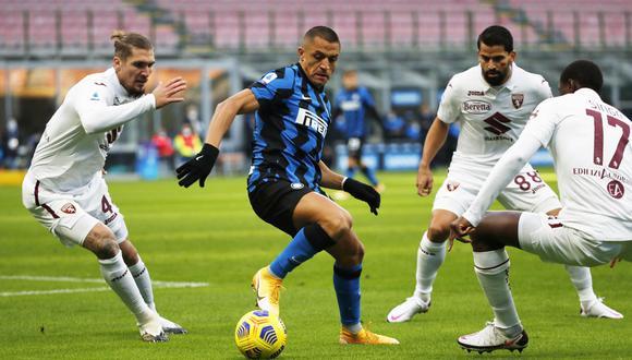 Alexis Sánchez anotó en goleada del Inter de Milán sobre Torino| Foto: REUTERS