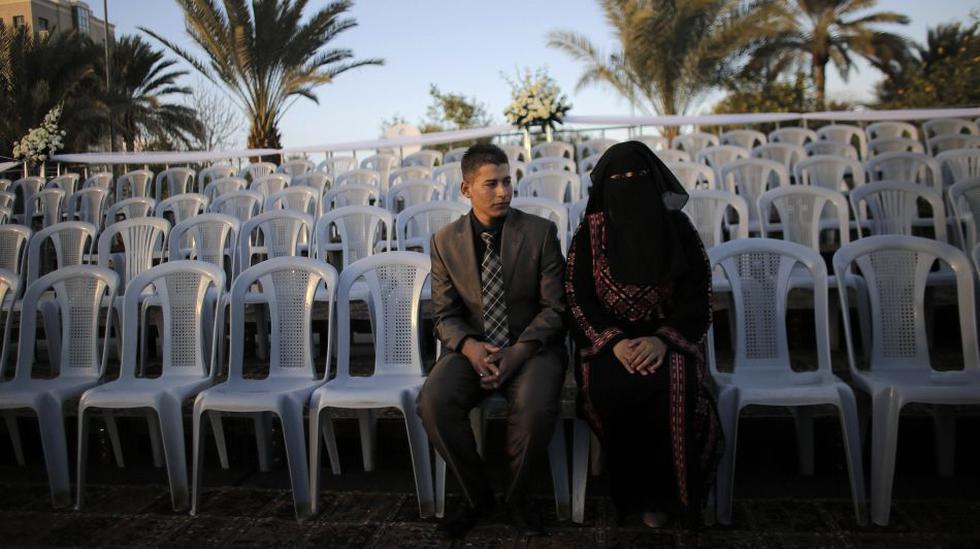 Una boda masiva al estilo palestino - 1