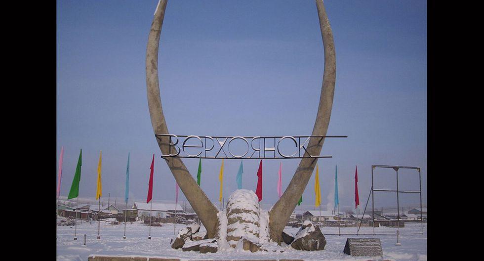 Verjoyansk, Rusia. Tiene 1.300 habitantes y ostenta el récord por tener la temperatura más fría: -69 ºC. (Foto: Wikimedia Commons)
