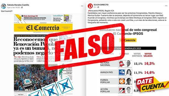 Candidatos y portales de noticias difunden información falsa en plena campaña electoral.