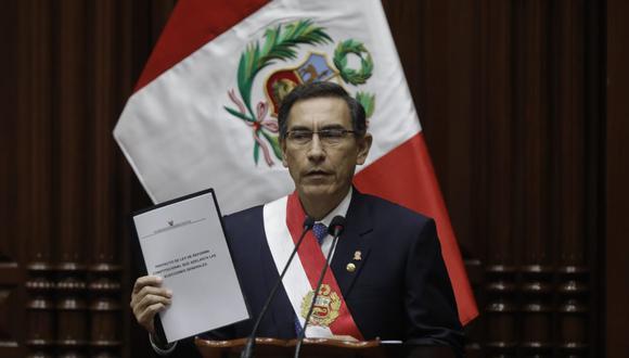 El presidente Martín Vizcarra subió 13 puntos porcentuales en comparación con el mes de julio. (Foto: GEC)