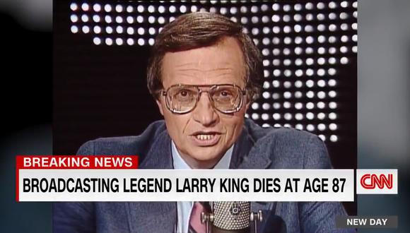 """Larry King, en su primera aparición en """"Larry King Live"""" para CNN. Foto: CNN."""