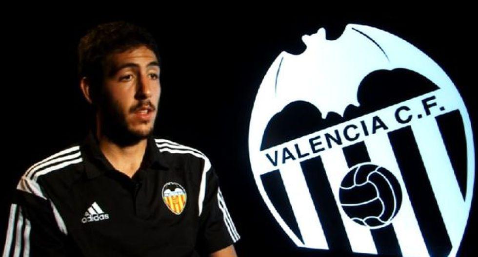Los jugadores del Valencia anuncian el partido contra Alianza
