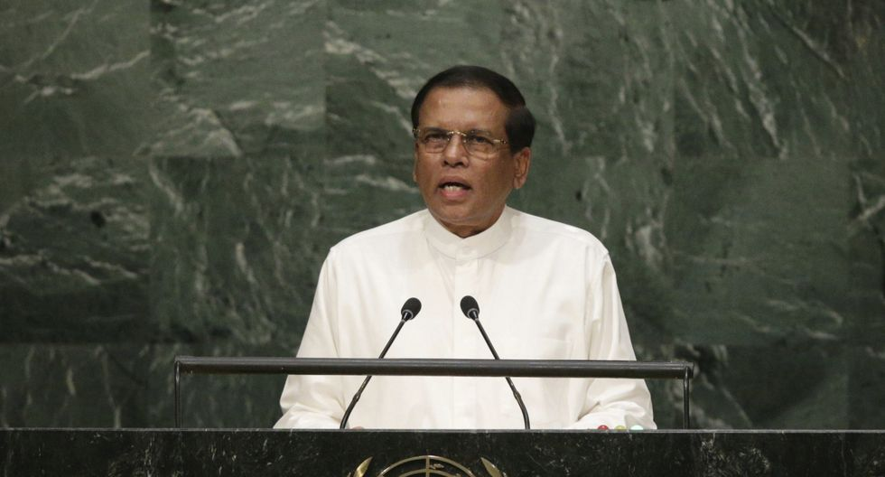 Maithripala Sirisena,presidente de Sri Lanka. (Foto: EFE)