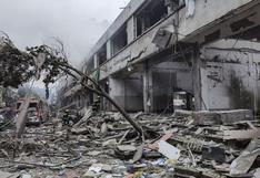 China: explosión de gas mata al menos a 25 personas y destruye un complejo residencial