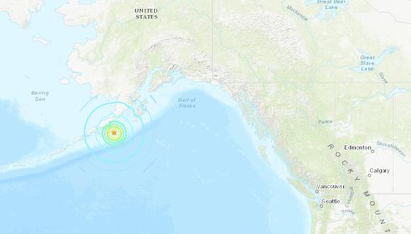 Terremoto de magnitud 8,2 frente a las costas de la península de Alaska activa alerta de tsunami. (USGS).