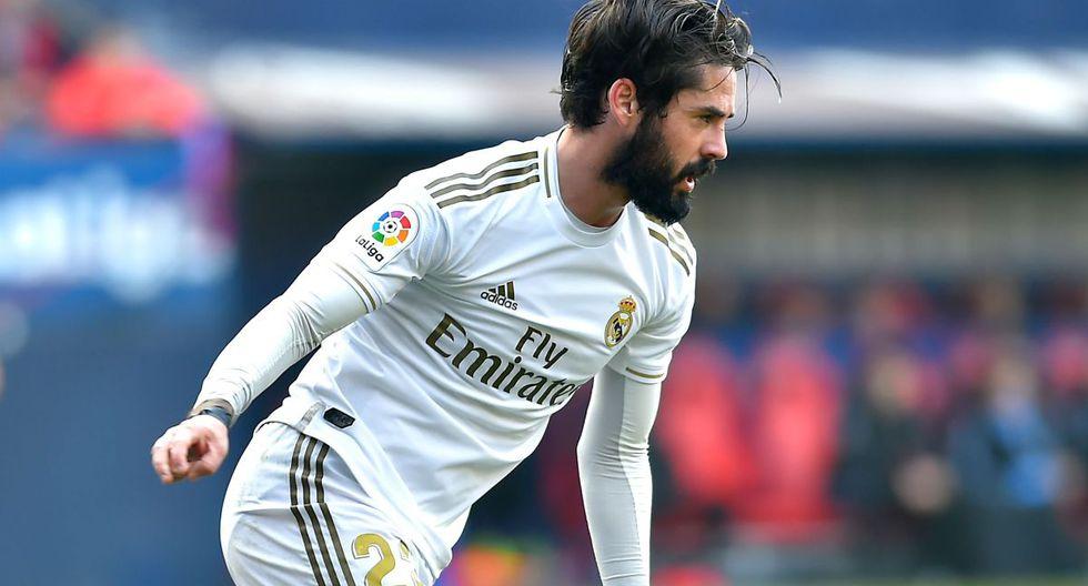 Isco (27 años, contrato hasta 2022). Mientras Zidane siga en el banquillo tendrá espacio en Real Madrid, por lo que no hay duda de su continuidad, por ahora.. (Foto: AFP)