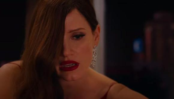 Se conocen nuevas imágenes de la actriz Jessica Chastain en AVA, una cinta de suspenso y asesinatos. (Captura de pantalla / YoutTube).