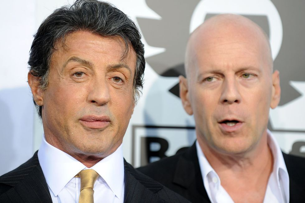 Sylvester Stallone and Bruce Willis were very good friends (Photo: AFP)