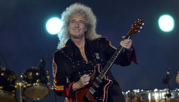 Brian May sufrió un ataque al corazón y estuvo cerca de la muerte. (Foto: AFP)