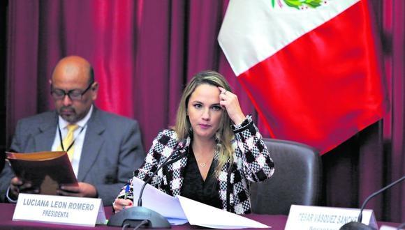 La fiscalía le imputa a Luciana León el haber gestionado proyectos de La Victoria en el MEF a cambio del pago de presuntos sobornos. (Foto: Anthony Niño de Guzmán)