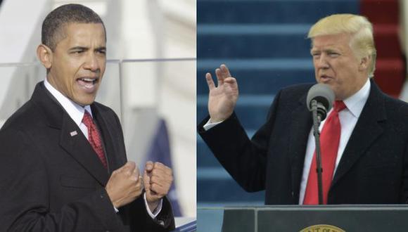 Obama - Trump: El contraste entre sus discursos de investidura